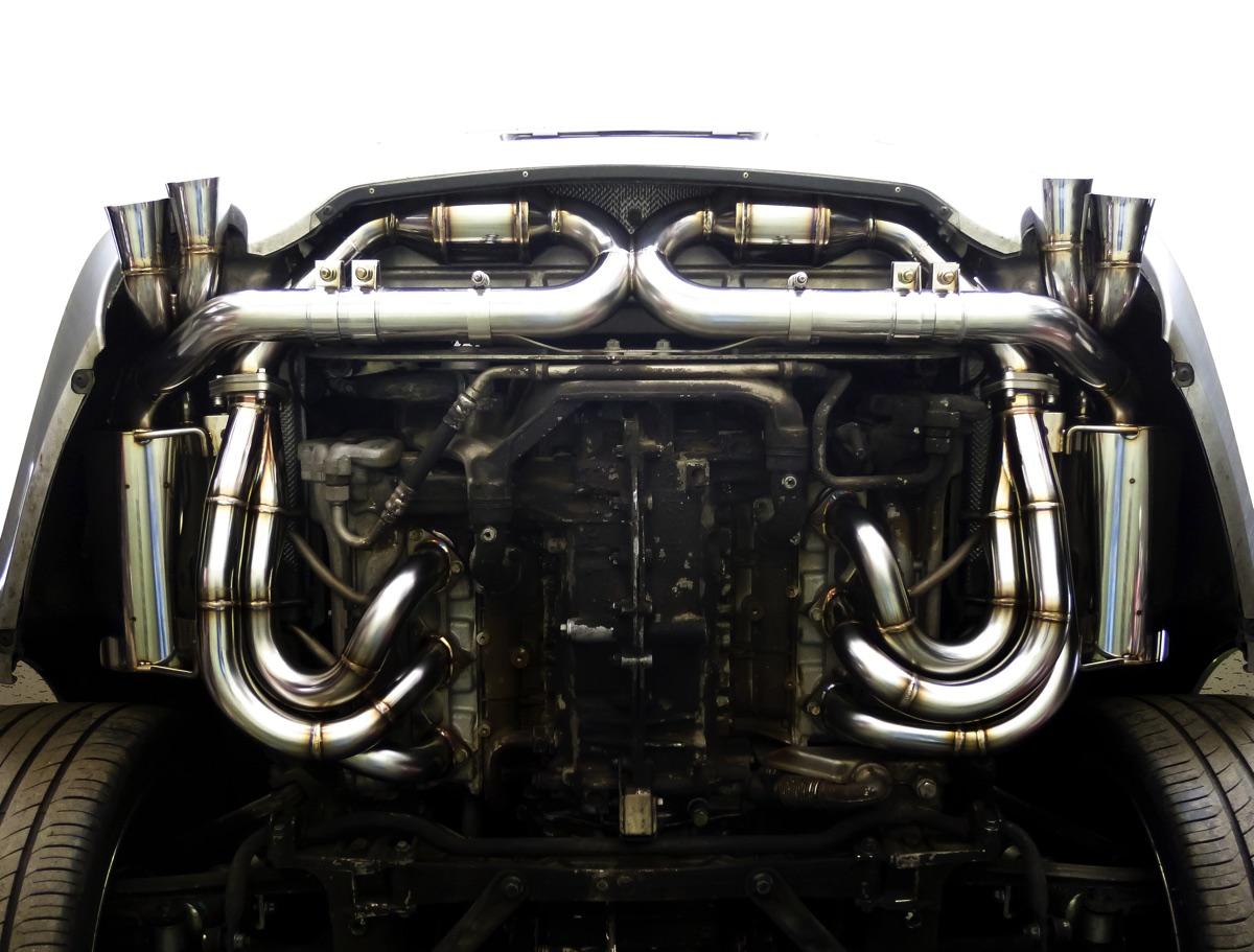 ポルシェ 996 GT3 メタルハニカムキャタライザークロスパイプ